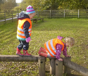 Outdoor Play is encouraged at ABC Day Nursery
